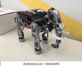 First Robotic Educational Elephant.  Making an Elephant Robot. Elephant Robotics concept - Moscow 5 July 2019