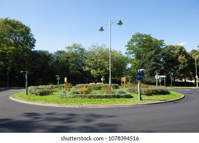 The first roundabout built in Britain, circa 1909, in Letchworth Garden City.