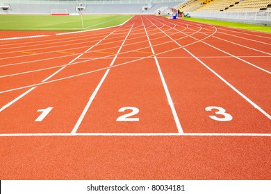 first second and third race track mean competition situation