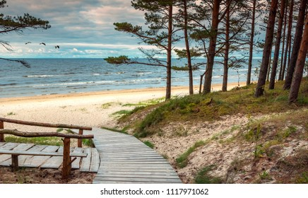 First signs of autumn in Jurmala - famous international resort in Latvia, Baltic country of EC