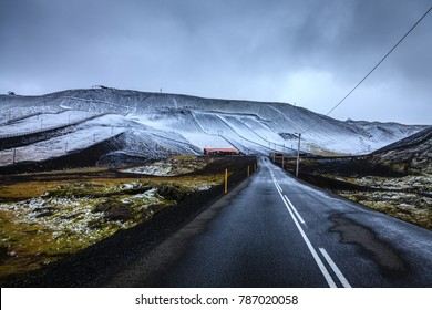 First snow at Blafjoll ski resort in Iceland in early September