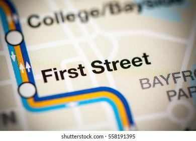 First Street Station. Miami Metro map.