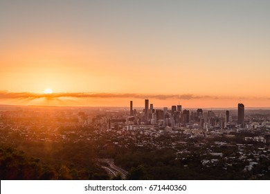 First sunrise of the month at Mt.Coot-tha lookout