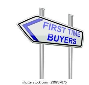 first time buyers - isolated road sign