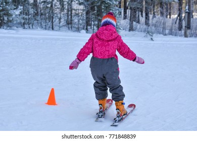 First time on skis.