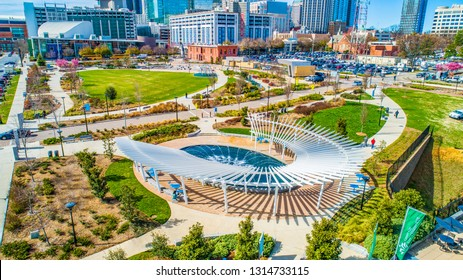 First Ward Park in Charlotte, North Carolina, USA