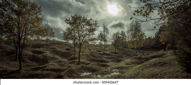 First World War battlefield, Froideterre, Verdun, France