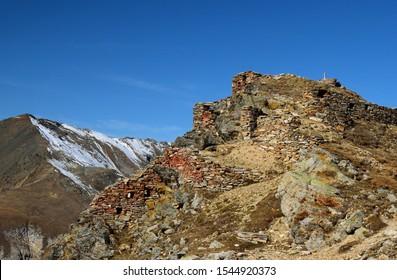 first world war fortifications in the Alps (Filon dei Mot - Stelvio Pass)