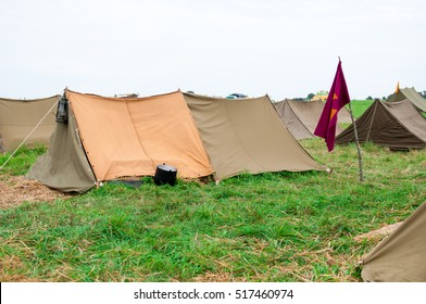 The First World War military camp.