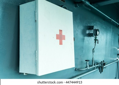 First-aid box hang on the wall