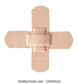 First-aid Plaster isolated [clipping path included]
