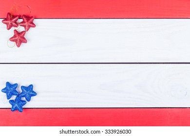 Fir-tree jewelry on red and white boards