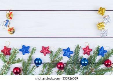 Fir-tree jewelry on white boards