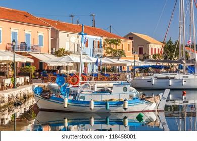Fiscardo on the Island of Kefalonia in Greece