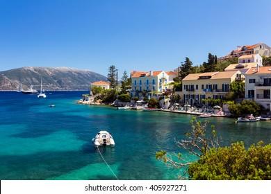 Fiscardo summer resort in Kefalonia, Greece