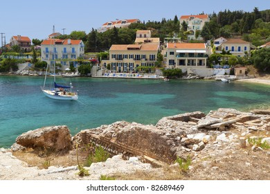 Fiscardo traditional village at Kefalonia island in Greece