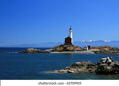 Fisgard Lighthouse in Victoria, Vancouver Island - BC, Canada