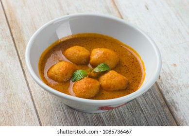 fish ball curry popular asian food