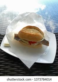 fish bread roll