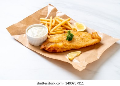 fish and chips with french fries - unhealthy food