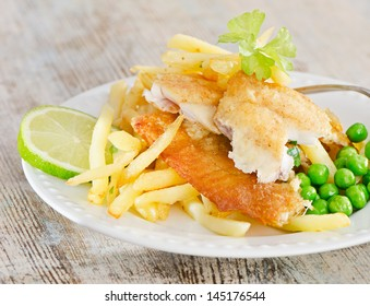fish and chips. Selective focus
