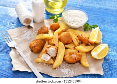 Fish and chips - traditional english fast food