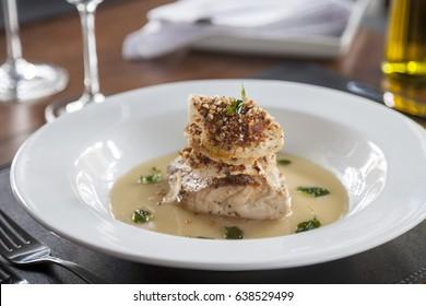 Fish Dish - Fish with almonds crust