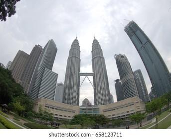 """fish eye view of """"Kuala Lumpur Convention Center"""" at Kuala Lumpur.Malaysia 30.5.17"""