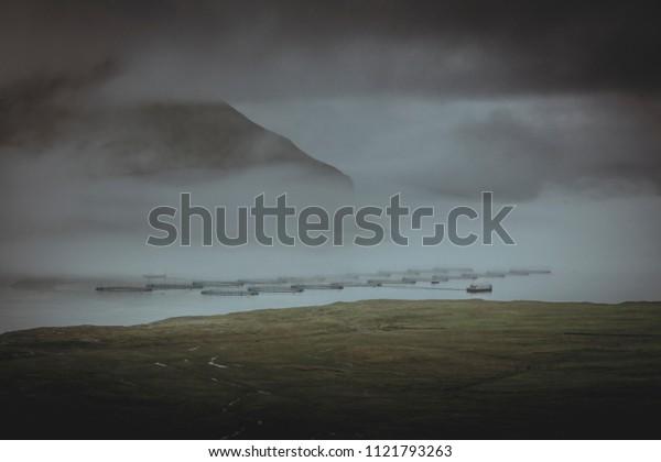 Fish farming in faroe island