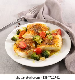 fish fillet with vegetable and sauce