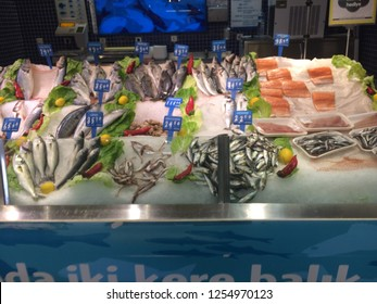 Fish in a fishmonger's