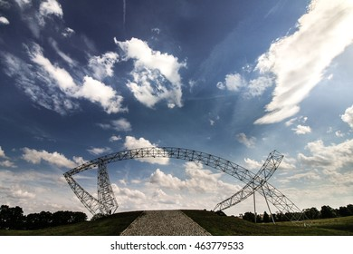 The Fish Gate (Brama Ryba) structure in Lednica - Pola Lednickie (Poland) - Shutterstock ID 463779533
