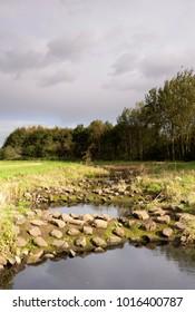 Fish ladder in the Beerze river near the Dutch village Spoordonk