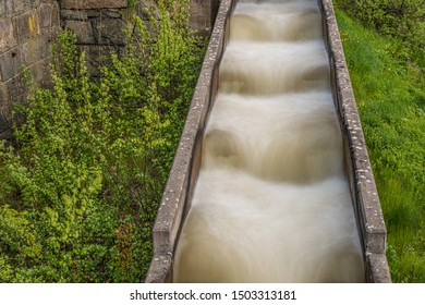 Fish ladder with running water.