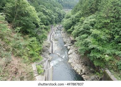 fish ladder in Shiromaru dam Okutama