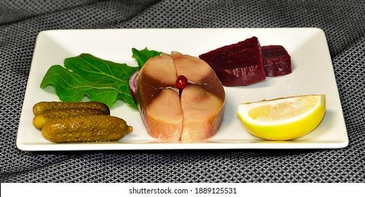 fish and lemon in laker