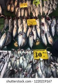 Fish at a fish market / fishmonger's