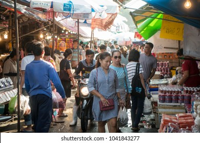 the fish market at the town of Ang Sila near Bang Saen in the Provinz Chonburi in Thailand.  Thailand, Chonburi, November, 2017