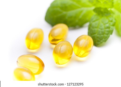 Fish oil nutritional supplement capsules