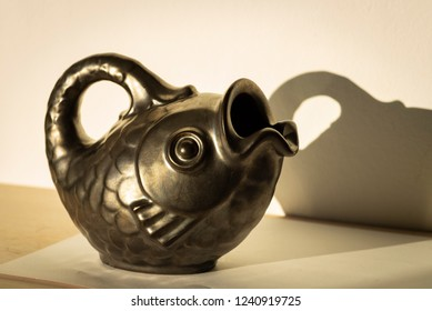 Fish pitcher. Ceramics from Denmark, the city named Odense.