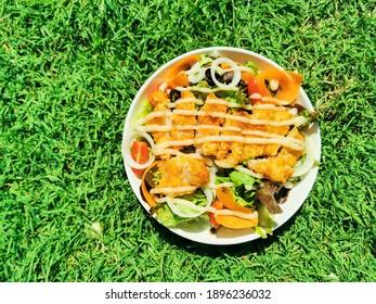 fish salad breakfast food dried