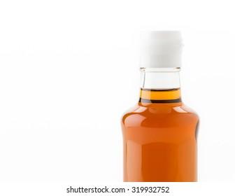 fish sauce bottle on white background