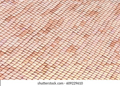fish scale roof top view pattern. Thai style roof. Asian roof pattern.