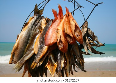 Fish with sea on background