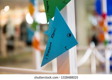 fish shape origami paper