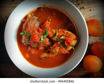 Fish soup tomato  - Sicilian food