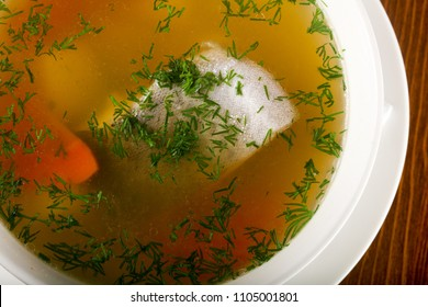 Fish soup with trout and vegetables