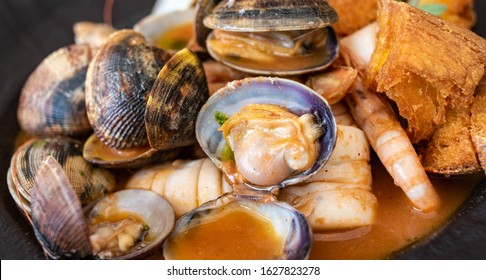 Fish soup, typical seafood dish of Italian cuisine.