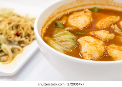 Fish and sour soup made of tamarind paste, Delicious thai traditional food