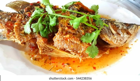 Fish with spicy sauce